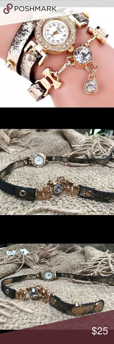 🎉SALE🎉 Fashionable Watchlet ❌ BRAND NEW ❌ GREAT DESIGN  ❌ MADE FOR ANY OCCASION ❌ FASHION STATEMENT ❌ AMAZING LOOK ❌ EASY WEAR ❌ STYLISH FINISH   ‼️PLEASE PURCHASE WITH CONFIDENCE‼️ Jewelry Bracelets
