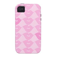 Pink Lips Vibe iPhone 4 Cover