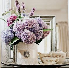 Shabby Sweet Cottage: From Cans To Vases~ this is just so pretty I had to repost it
