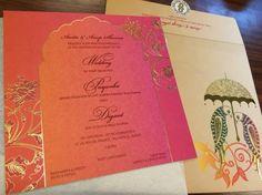 Priyanka & Digant Wedding Photo - via WedMeGood Wedding Card Design Indian, Indian Wedding Theme, Indian Wedding Cards, Indian Wedding Planning, India Wedding, Tamil Wedding, Card Wedding, Wedding Pics, Indian Bridal