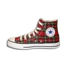 Tartan - Converse All Star - Casual Christmas shoes@PennFoster #Bemorefestive #Choosetobemorefestive