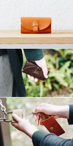 leather keycase | Duram Factory Leather Key Case, Bags, Fashion, Handbags, Moda, La Mode, Fasion, Totes, Hand Bags