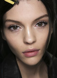 Eyeliner how come I cant ever get mine to look this minimal...Dolce & Gabbana FW 14 Backstage