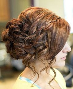 Messy Updo with Ombre Hair for Prom Hairstyles