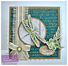 7 x 7 card using Sheena Douglass Perfect Partners Dragonfly Dance. Spectrum Noir pencils used: 53 Designed by Laine Webb Vintage Shabby Chic, Shabby Chic Style, Spectrum Noir Pencils, Sheena Douglass, Crafters Companion, Card Making Inspiration, Altered Books, Stamps, Dragon Flies