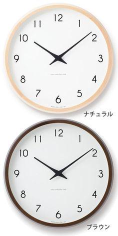 完成されたフォルムが魅力のレムノスの掛け時計。掛け時計 電波時計 Lemnos レムノス Campagne カンパーニュ PC10-24W 北欧 おしゃれ かわいい 人気 電波掛け時計 壁掛け 壁掛け時計 掛時計 時計 日本製 音がしない【レビュー特典付】