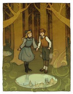 The Wood Between the Worlds Narnia Art Print 8x10 Signed by Kecky.