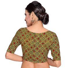 Bridal Sari, Durga Puja, Green Blouse, Top Gifts, Long Blouse, Bridal Gifts, Cotton Blouses, Festival Wear, Wedding Wear