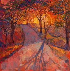 Vibrant Landscape Paintings Use the Color Orange to Capture the Warm Glow of the American West - My Modern Met