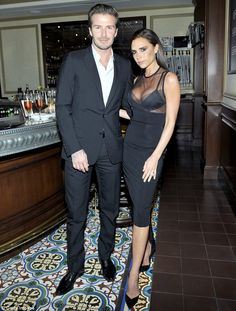 What a doorman! Victoria revealed she would love to have David greeting customers at the d...