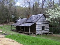 "http://en.wikipedia.org/wiki/File:Noahoglecabin.jpg - The Noah ""Bud"" Ogle Cabin near Cherokee Orchard in the Sugarlands, GSMNP. The first part of the cabin was built in the mid-1880s, with a second half added later. Ogle's barn is in the background, with Bullhead Mountain rising in the distance."