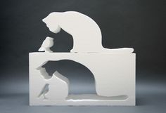 Fill In the Cat: Design Project by Oscar Nunez Wooden Decor, Wooden Diy, Pet Furniture, Furniture Design, Design Projects, Wood Projects, Bois Diy, Scroll Saw Patterns, Cat Design