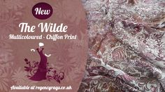 'The Wilde' - Chiffon Print  Abstract and Elegant  Another Bright twinkle from Regency Rags  Check it out now at www.regencyrags.co.uk or all the eBay'ers! http://stores.ebay.co.uk/Regency-Rags-Fabric-Store