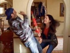 That one time Luke broke into the Gilmore house to avoid Nicole and Lorelai attacked him with an umbrella...