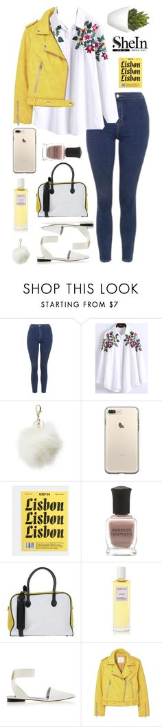 """""""White Floral Embroidery High Low Blouse by SheIn"""" by patricia-pfa ❤ liked on Polyvore featuring Topshop, WithChic, Charlotte Russe, Deborah Lippmann, Balmain, Rodin, Senso, MANGO, Pomax and Sheinside"""