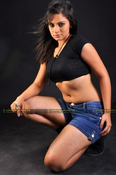 Anuhya Reddy in Black Dress Hot Photo Shoot Stills