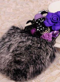 New Luxury Rabbit Fur Anna Sui Elements iPhone Case, Accessory, synthetic rabbit fur iphone case bling, Chic Iphone Cases Bling, Cool Cases, Anna Sui, Rabbit Fur, Phone Covers, Phone Accessories, Winter Hats, Electronics, Chic