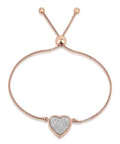 Take a look at this Rose Gold Heart Adjustable Bracelet today!