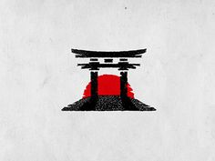Torii gate by Dusan Klepic Japanese Drawings, Japanese Tattoo Art, Japanese Tattoo Designs, Silhouette Tattoos, Silhouette Clip Art, Samourai Tattoo, Ronin Samurai, Torii Gate, Samurai Artwork
