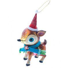 Gisela Graham Christmas Painted Glass Deer Christmas Decoration - Gisela Graham Christmas from Mollie and Fred UK