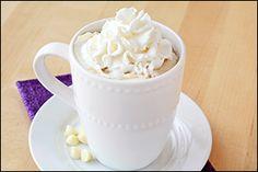 Hungry Girl recipe swap for Starbucks White Mocha. PIN!