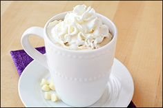 Hungry Girl recipe swap for Starbucks White Mocha. PIN!