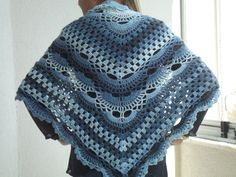 blue Crochet shawl scarves scarf accessories crochet shawl accessories gift for her by BESTHANDCROCHET on Etsy