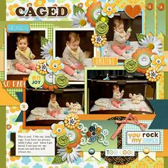 Layout using one of My Life In Photobook 17 templates by Tinci Designs. Also use A IS For Awesome  collection by JB Studio