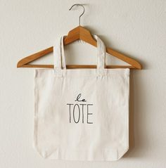 """This """"Le Tote"""" is so super cute! The last thing I need is another tote bag, but they always come in so handy (and you can't deny how adorable this one is!)"""