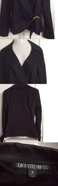 Women Fashion: Lafayette 148 Brand New Black Shirt Wrap Women S Size 16 Long Sleeve -> BUY IT NOW ONLY: $64.99 on eBay!