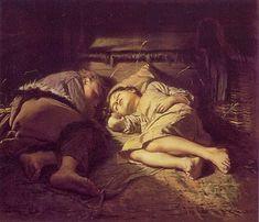 Children Sleeping 1870 Vasily Perov
