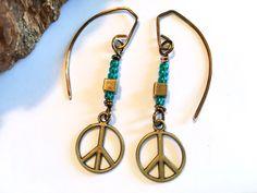 A personal favorite from my Etsy shop https://www.etsy.com/listing/504719453/boho-hippie-earrings-peace-sign-earrings