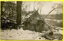 RPPC Rare Hunter/Trapper Trapper's Hut Lowes Woods Lansing Michigan 1908