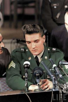 Elvis Presley press conference when he got out of the army march 1960 Check out the website for more
