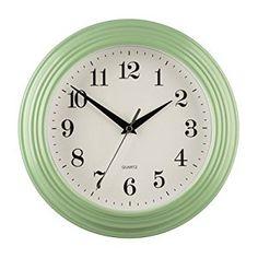 26cm Pale Green Large Vintage Quartz Wall Clock