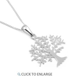 "Sterling Silver Tree 16"" #Necklace * $7.41"