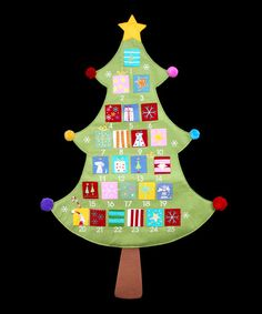 Fabric Tree Advent Calendar