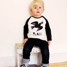 Kids Raglan Peace Top