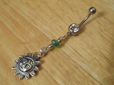 Belly button ring  Beaded Sun belly Button ring by ChelseaJewels, $12.00