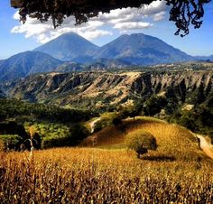 The view of the land as seen from Patzun Chimaltenango in Guatemala.