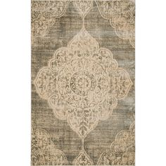 Aria Rug in Gray & Ivory