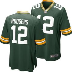 Green Bay Packers Aaron Rodgers #12 Toddler Replica Game Jersey (Green)