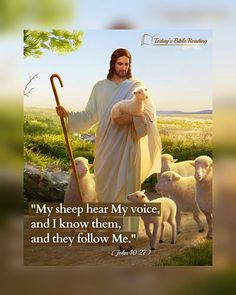 """The #Lord_Jesus said: """"My sheep hear My voice"""" (#Jhn 10:27). When the Lord returns, He shall speak His utterances and go in search of His sheep. Critical to awaiting the return of the Lord is seeking the #voice_of_God, but we are unable to distinguish between the voice of God and the voice of man. Please fellowship on this with us. #knowledge_of_God #knowing_the_voice_of_God Bible Lessons For Kids, Bible For Kids, Prayer Quotes, Jesus Quotes, Funny Phone Wallpaper, Cross Wallpaper, Jesus And Mary Pictures, Bible Reading For Today, Astronaut Illustration"""