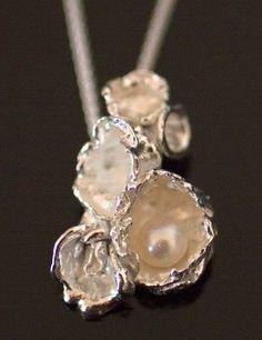2 316 Baroque Keshi Pearl Amethyst Peridot 925 Sterling Silver Pendant