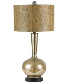 "SOLITAIRE lamp by Candice Olson.  Mercury glass base with faux cork shade. 17.5""H #candiceolson"