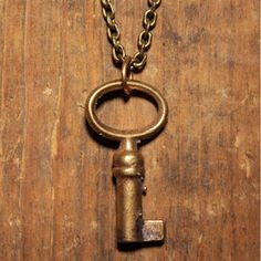 Small Key Necklace Brass, $19.50, now featured on Fab.