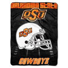 "Oklahoma State College """"Overtime"""" 60x80 Micro Raschel Throw"