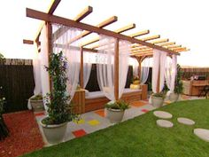 Add shade and style to your backyard with a garden pergola.