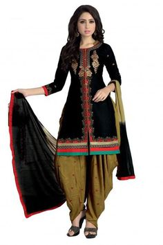 INQUIRY WHATSAPP /  Call- 91 9624913609 Women's Unstitched Black And Mehendi Colour Traditional Wear Patiala Salwar Kameez http://www.justkartit.com/womens-unstitched-black-and-mehendi-colour-traditional-wear-patiala-salwar-kameez-jk4185?utm_source=dlvr.it&utm_medium=facebook&utm_campaign=justkartit #Diwali