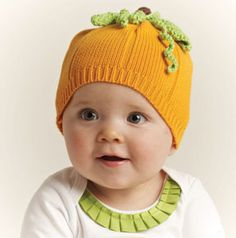 One of the cutest Pumpkin Knit Hats ever!